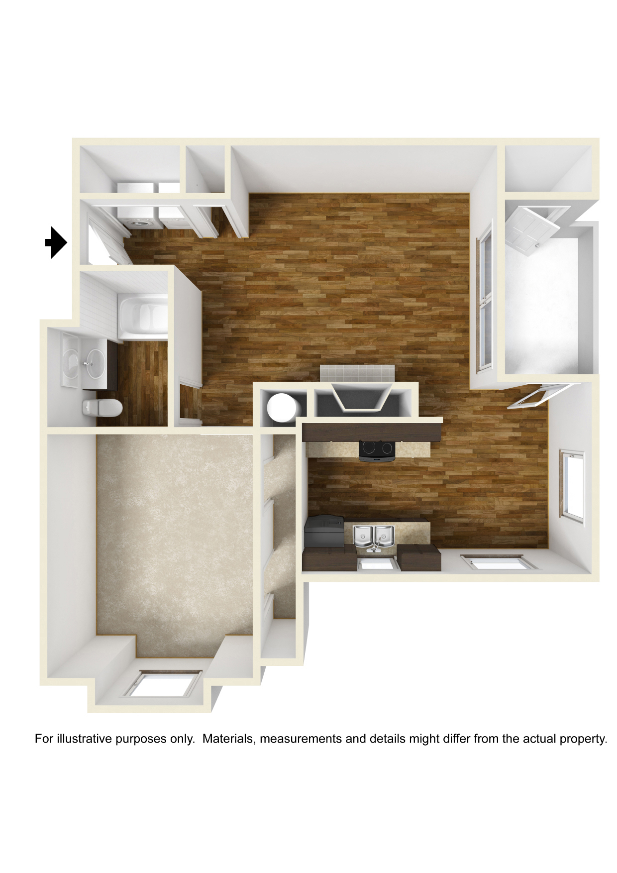 Diplomat Style Apartment | Crowne Park: Stylish Apartments in ...