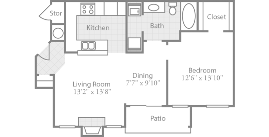 Crowne Park Apartments Winston Salem NC Offers Two Extra Spacious One Bedroom Floor Plans With An Intimate Dining Room Large Living